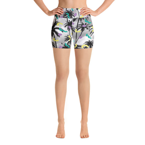Palms Yoga Shorts-Yoga Shorts-Eat me!