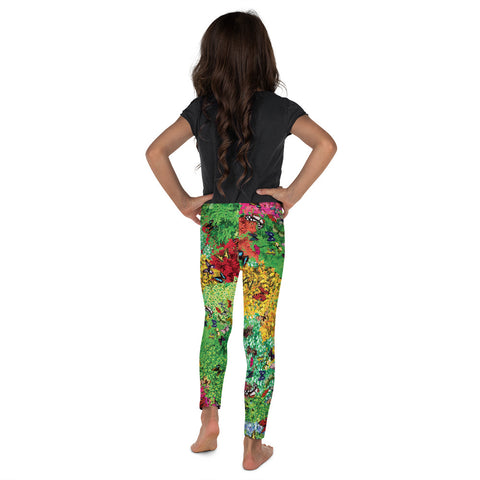 Plants & Butterflies Kid's Leggings-Kids Leggings-Eat me!