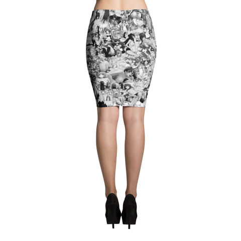 Hentai B&W Pencil Skirt