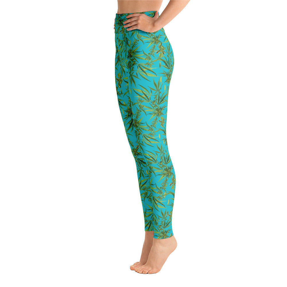 Cannabis Sativa Yoga Leggings | Yoga Leggings Cannabis Sativa-Yoga Leggings-Eat me!