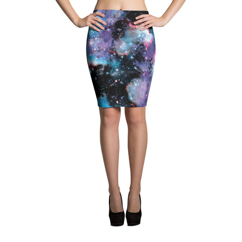Universal Galaxy Pencil Skirt | Falda Tubo Galaxia Universal