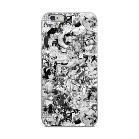 Hentai B&W iPhone Case