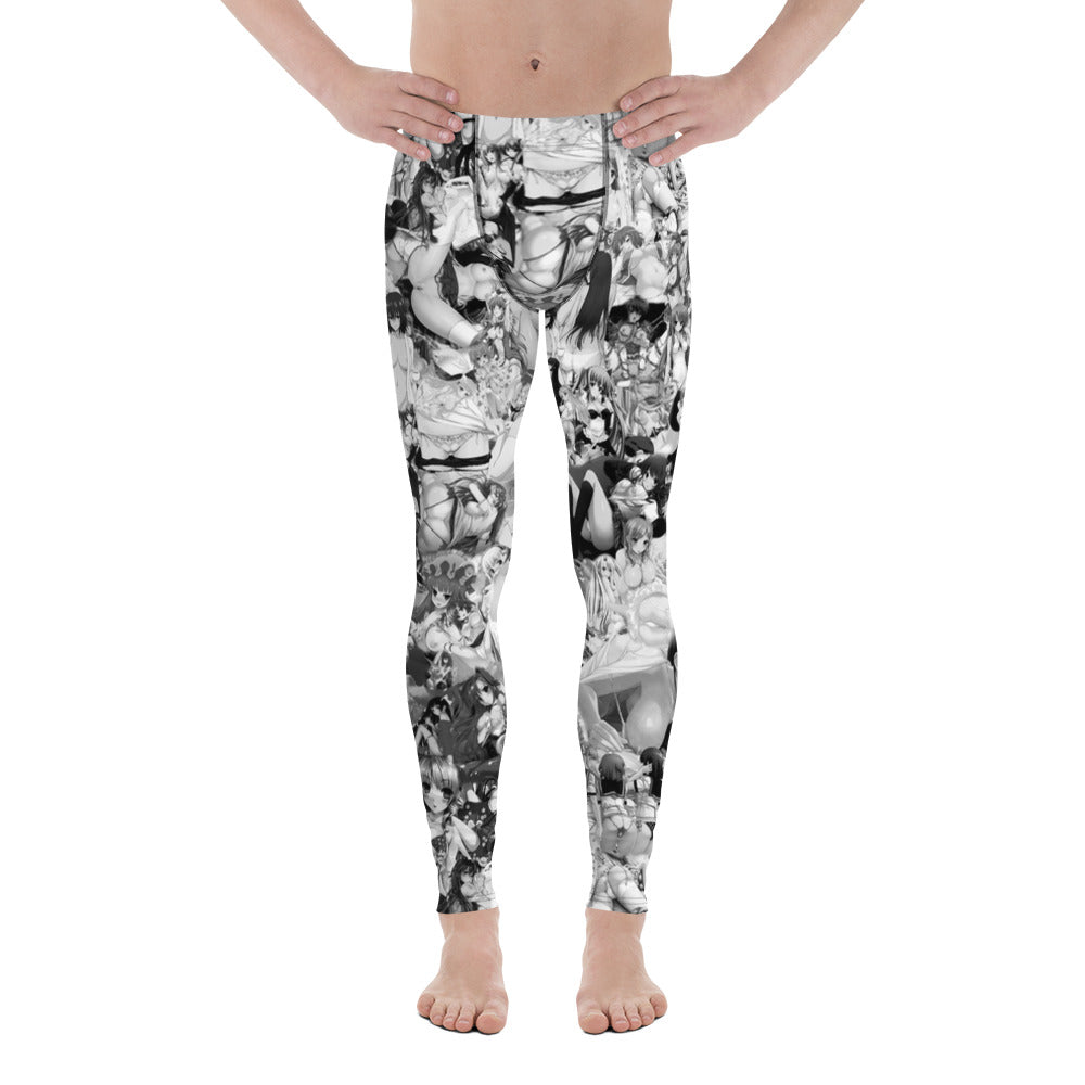Hentai B&W Men's Leggings-Meggings-Eat me!