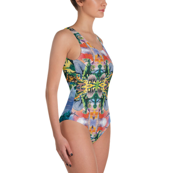 Dinosaur One-Piece Swimsuit | Traje de Baño Dinosaurios Swimsuit- eatmeclothing