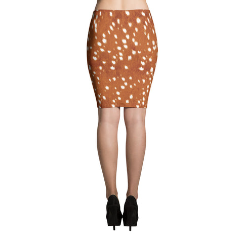 Deer Bambi Pencil Skirt