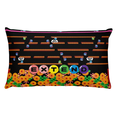 Bubble Bobble Rectangular Pillow | Cojín Rectangular Bubble Bobble