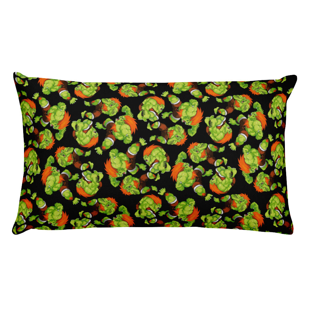 Blanka Street Fighter Rectangular Pillow | Cojín Rectangular Blanka Street Fighter-Pillow Cases-Eat me!