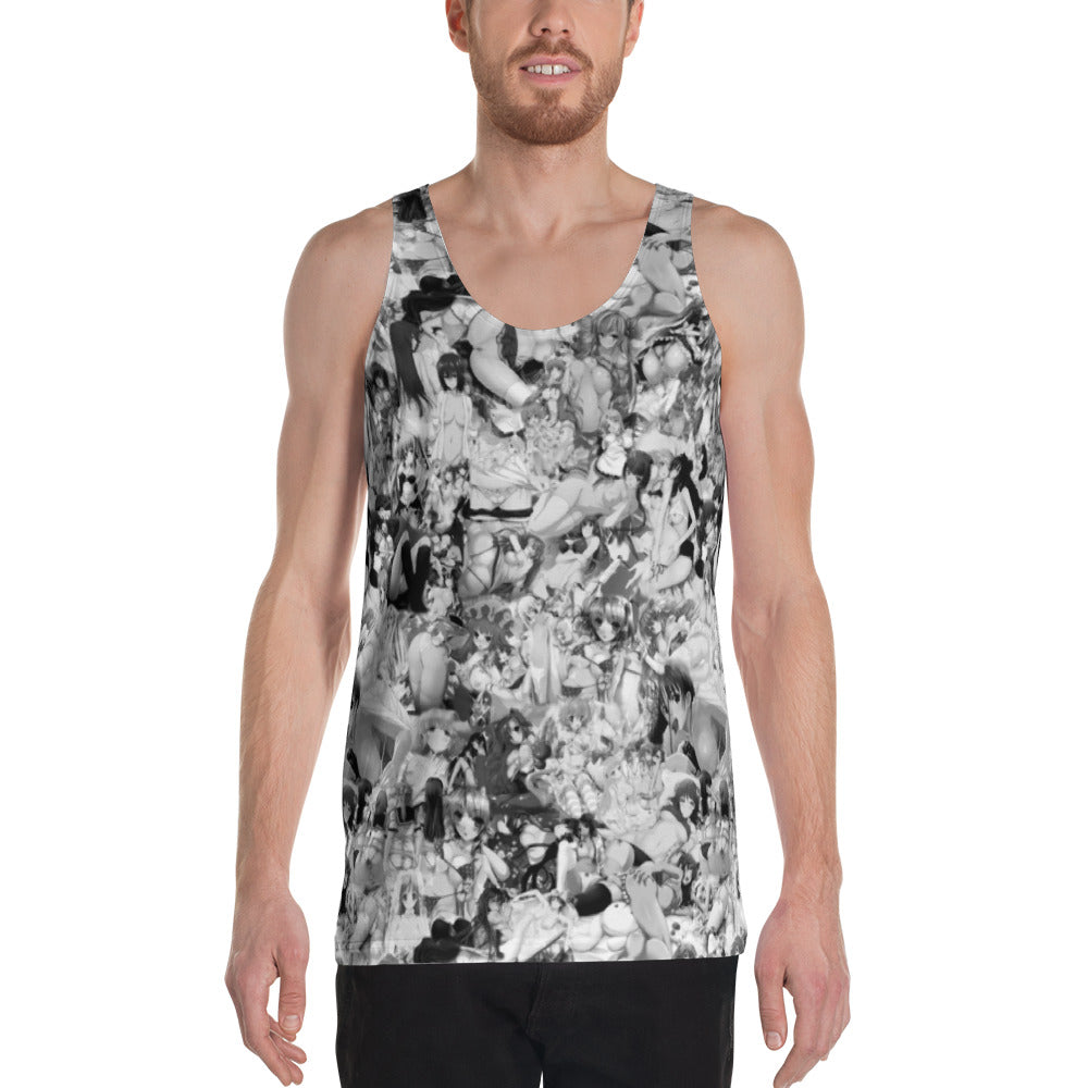 Hentai B&W Sleeveless Shirt-Sleeveless Shirt-Eat me!