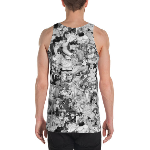 Hentai B&W Sleeveless Shirt