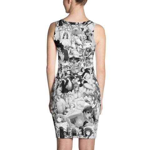 Hentai B&W Bodycon Dress