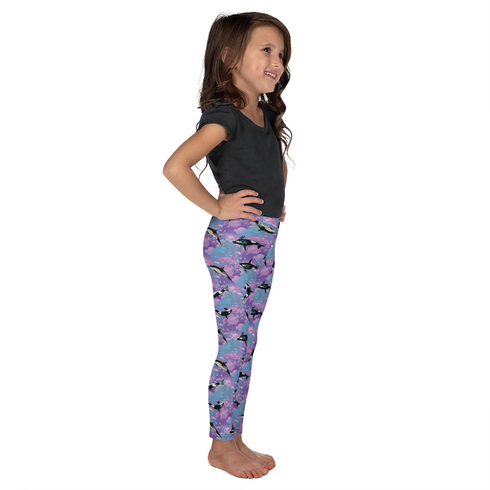 Whales & Dolphins Kid´s Leggings | Ballenas y Delfines Leggings Niños-Kids Leggings-Eat me!