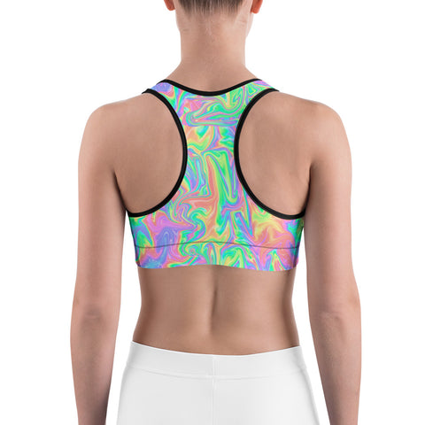Acid Pastel Sports Bra-Sports Bra-Eat me!