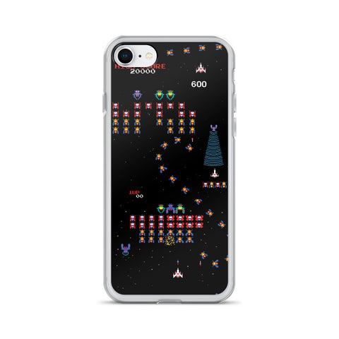 Galaga iPhone Case-Phone Cases-Eat me!