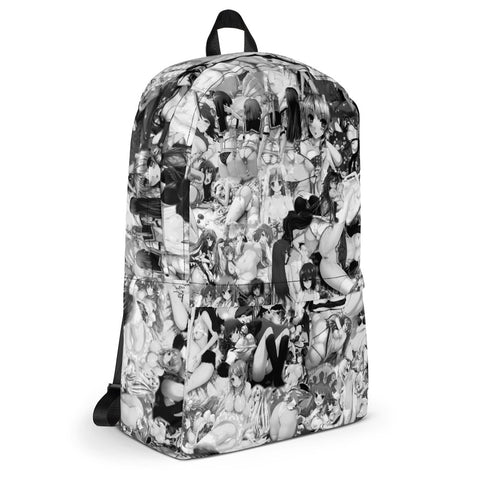 Hentai Black & White Backpack-Accessories-Eat me!