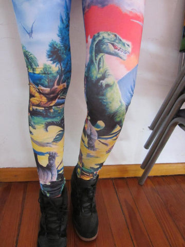 Dinosaur Leggings-Leggings-Eat me!