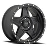 Series 5035 Predator 18x9 with 5 on 5 Bolt Pattern 5 Backspace Satin Black Finish Pro Comp Alloy Wheels