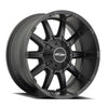 Series 5050 10 Gauge 20x9 with 5 on 5 Bolt Pattern 4.5 Backspace Satin Black Finish Pro Comp Alloy Wheels