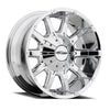 Series 6050 10 Gauge 20x9 with 5 on 5 Bolt Pattern 4.5 Backspace Chrome Finish Pro Comp Alloy Wheels