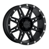 Series 7031 17x9 with 5 on 5 Bolt Pattern 4.75 Backspace Flat Black Finish Pro Comp Alloy Wheels