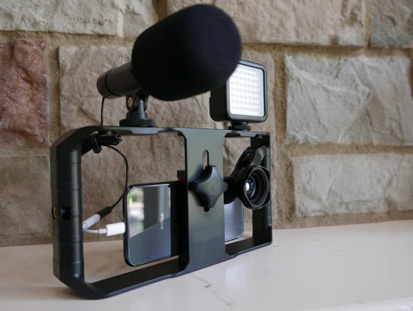 Universal Phone Movie System with Mini Shotgun Microphone