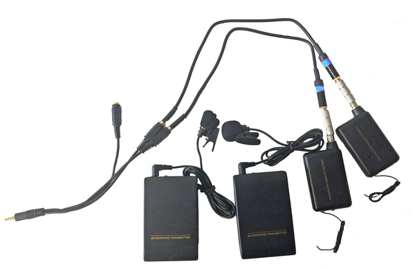 DUAL WIRELESS LAVALIER MICROPHONE SYSTEM FOR IPHONE, IPAD, GALAXY AND MOST OTHER MOBILE DEVICES