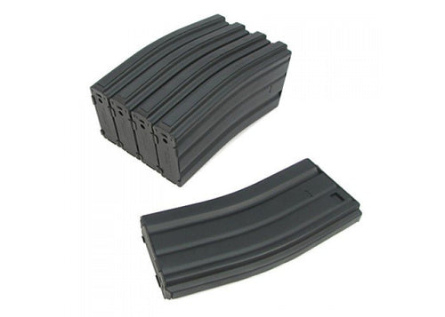 King Arms M16 Metal 120 Rounds Magazine Box Set of 5
