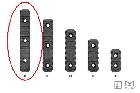 PTS Enhanced Rail Section M-LOK 11 Slot