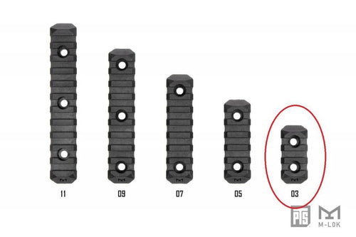 PTS Enhanced Rail Section M-LOK 3 Slot