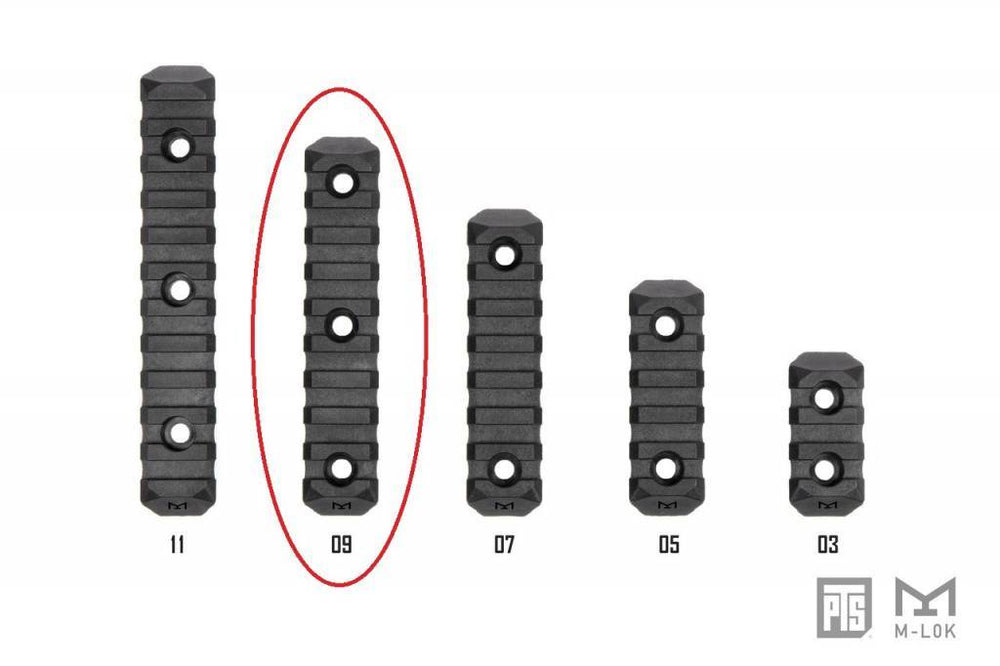 PTS Enhanced Rail Section M-LOK 9 Slot