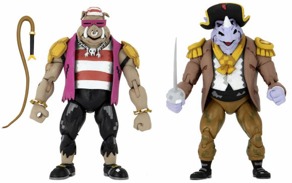 NECA - TMNT TURTLES IN TIME SERIES 3 - PIRATE BEBOP & ROCKSTEADY ACTION FIGURE 2-PACK (SHIPS MAY 2021)