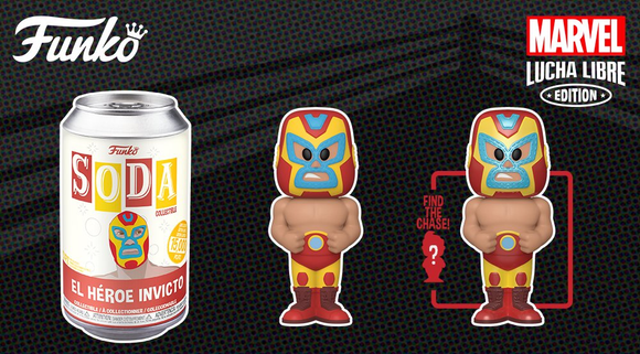 VINYL SODA - MARVEL LUCHADORES - IRON MAN (Ship Date TBD)