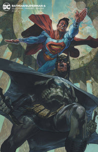 BATMAN SUPERMAN #6 CARD STOCK VAR ED