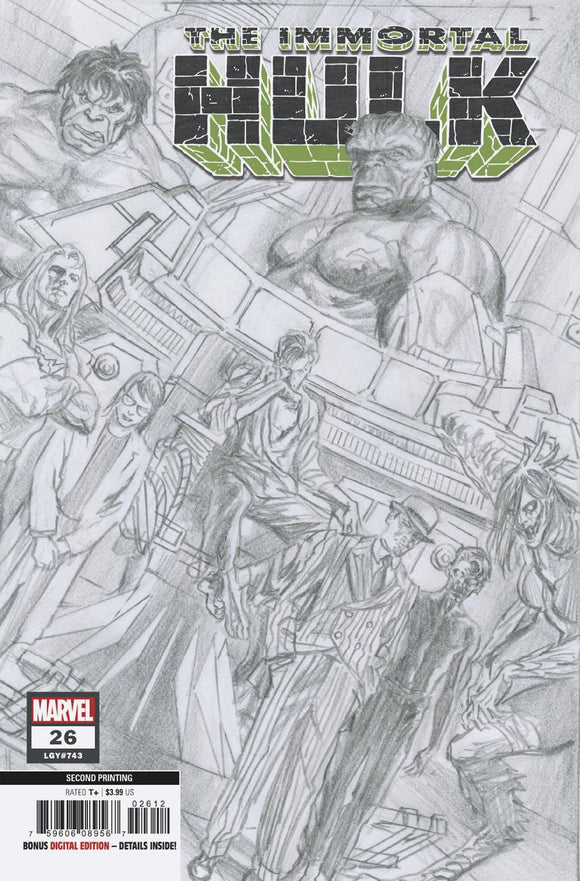 IMMORTAL HULK #26 2ND PTG ALEX ROSS VAR