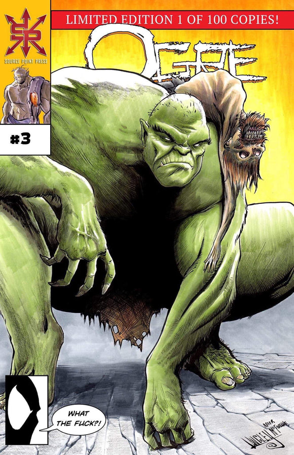 OGRE #3 COLLECTOR CAVE SHAWN LANGLEY VARIANT W/COA