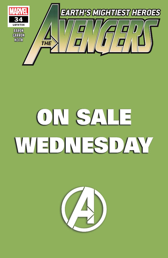 AVENGERS #34 MARVEL WEDNESDAY VAR