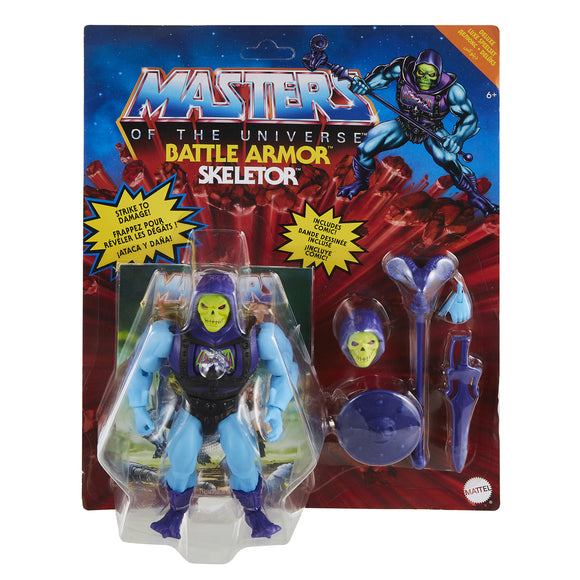MASTERS OF THE UNIVERSE ORIGINS - BATTLE ARMOR SKELETOR FIGURE (MAY 2021)