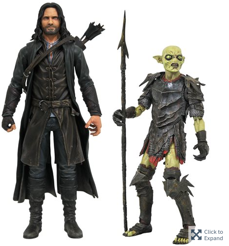 DIAMOND SELECTS - LORD OF THE RINGS SERIES 3 - ARAGORN & MORIA ORC  2-PACK (OCTOBER 2021)