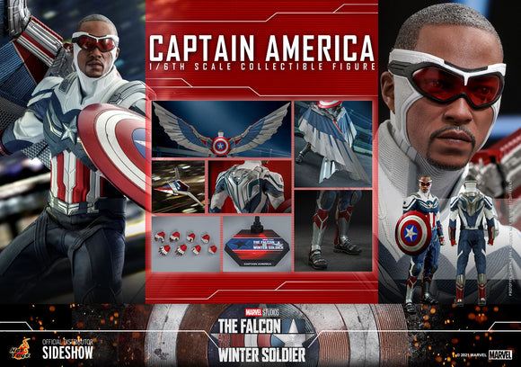 The Falcon & The Winter Soldier - Captain America Sixth Scale Figure by Hot Toys (Ships July-Sep 2022)