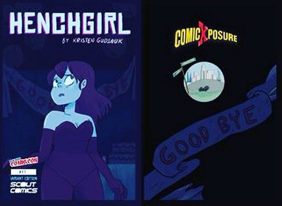 HENCHGIRL #11 COLLECTOR CAVE & COMICXPOSURE NYCC 2016 VARIANT