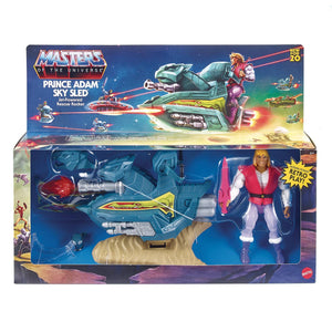 MASTERS OF THE UNIVERSE ORIGINS - PRINCE ADAM & SKY SLED FIGURE (MAY 2021)