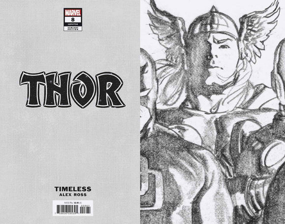 THOR #8 ALEX ROSS THOR TIMELESS VIRGIN SKETCH VAR