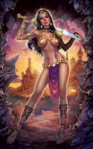 CIMMERIAN QUEEN OF THE BLACK COAST #1 CHATZOUDIS COLLECTOR CAVE C2E2 VARIANT - Collector Cave