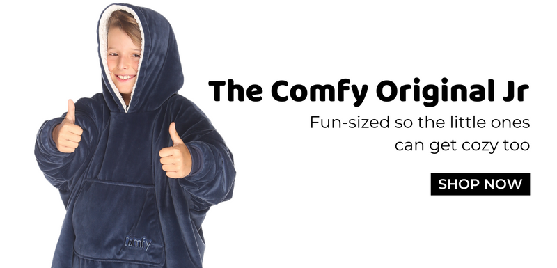 The comfy original jr, fun sized so the little ones can get cozy too, shop now
