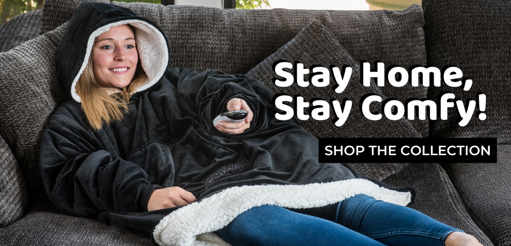 stay home, stay comfy, the comfy original, shop the collection
