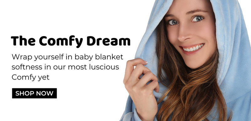 the comfy dream, wrap yourself in baby blanket softness in our most luscious comfy yet, shop now