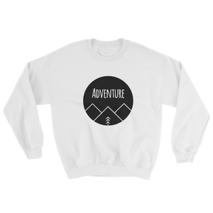 Adventure Black Ink, Crewneck Sweatshirt