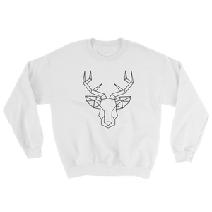 Deer Head, Crewneck Sweatshirt