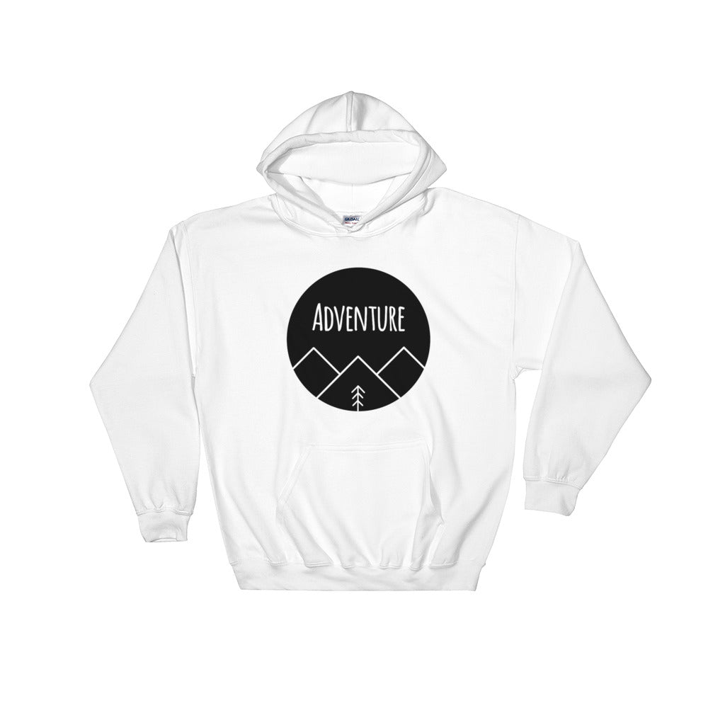 Adventure Black Ink, Hooded Sweatshirt