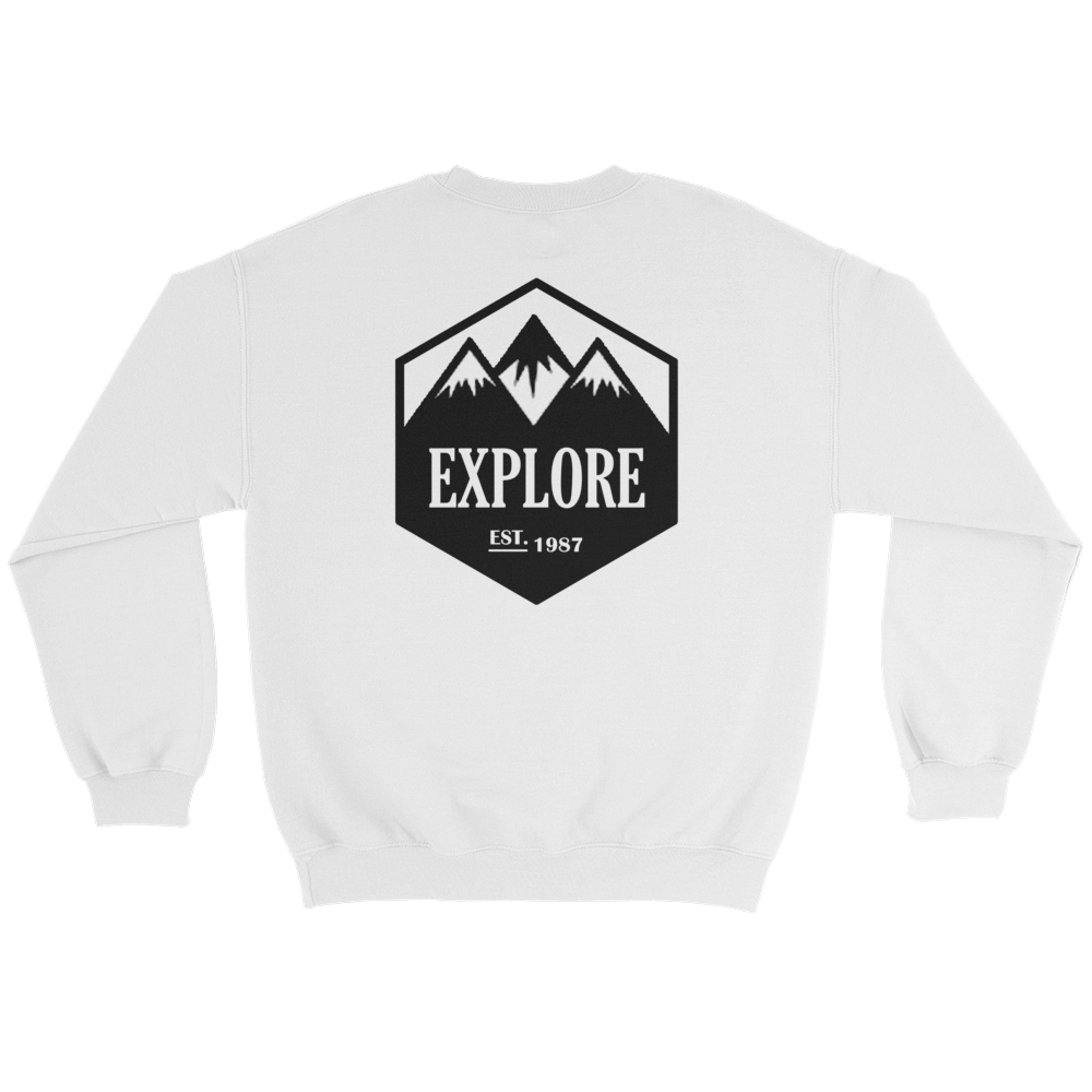 Explore, Crewneck Sweatshirt
