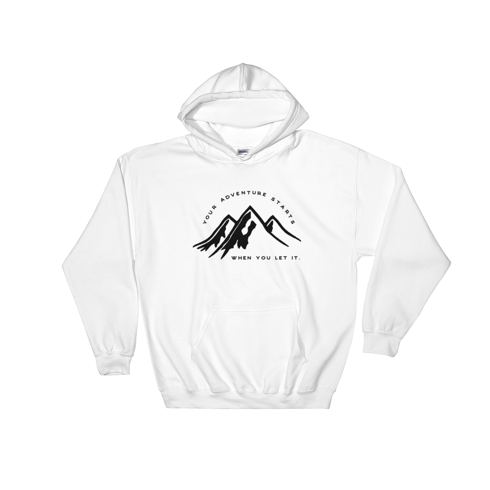 Adventure Starts, Hooded Sweatshirt